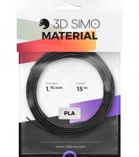 3DSimo Filament PLA - čierna, zlatá, šedá 15m