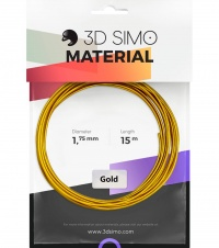 3DSimo Filament REAL GOLD - zlatá 15m