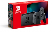 Nintendo Switch console with grey Joy-Con