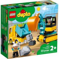 LEGO DUPLO Town 10931 Náklaďák a pásový bagr
